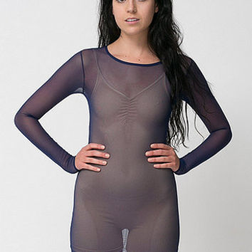 American Apparel - Nylon Spandex Micro-Mesh Long Sleeve Mini Dress