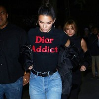 """Dior"" Fashion Casual Simple Female Letter Print Round Neck Short Sleeve T-shirt Tops"