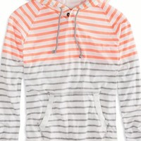 AEO Men's Striped Hoodie T-shirt (Chalk)