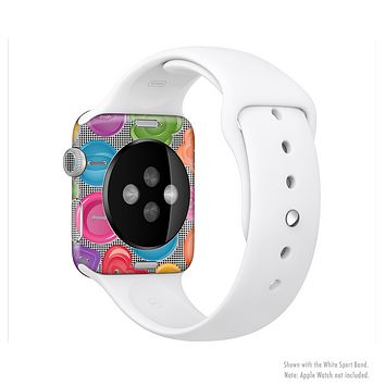 The Icon Shaped Color Buttons Full-Body Skin Kit for the Apple Watch