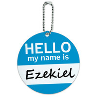 Ezekiel Hello My Name Is Round ID Card Luggage Tag