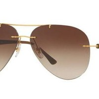 Cheap Authentic Ray Ban Sunglasses RB8058 157/13 Gold Frames Brown Lens 59MM outlet