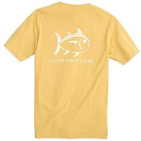 Weathered Skipjack Tee Shirt in Sun Glow by Southern Tide