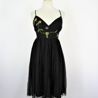 To The Max Silk Chiffon Embroidered Party Dress 2 NWOT