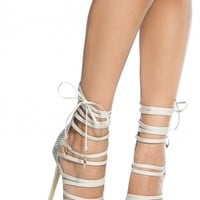 White Faux Snake Skin Multi Strap Single Sole Heels @ Cicihot Heel Shoes online store sales:Stiletto Heel Shoes,High Heel Pumps,Womens High Heel Shoes,Prom Shoes,Summer Shoes,Spring Shoes,Spool Heel,Womens Dress Shoes