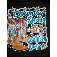 Southern Chics Funny Country Strong Sweet Girlie Bright T Shirt