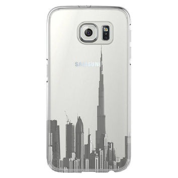 Burj Dubai of the United Arab Emirates Samsung Galaxy S6 Edge Clear Case S6 Case S5 Transparent Cover iPhone 6s plus Case