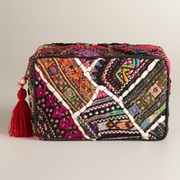 Sari Patchwork Cosmetic Pouch - World Market