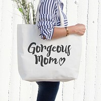 Gorgeous Mom Canvas Bag Mother's Day Gifts Grocery Bag Tote bag For Mom