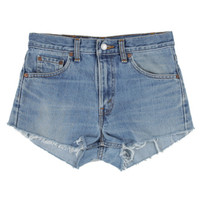 Rokit Recycled Stonewash Blue Denim Hotpant Shorts W30 | Rokit Recycled | Rokit Vintage Clothing