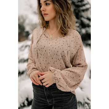 Speckled Peasant Blouse