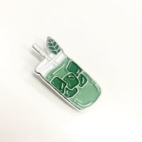 Green Tea Matcha Enamel Pin