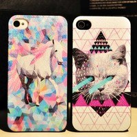 Pink-haired White Horse iPhone 4/4s or 5 Case from WANDERLUSTINY