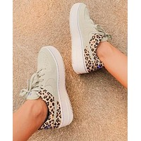 Onewel Nike Air Force 1 AF1 Beige Leopard Tail Shoes Women Sneakers