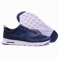 Nike Air Max Thea Print Casual Sports Shoes Navy blue-white soles