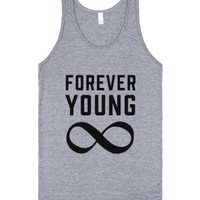 Forever Young-Unisex Athletic Grey Tank