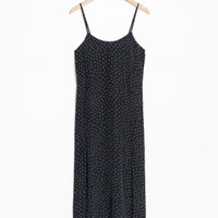 & Other Stories | Dotted Spaghetti Strap Slip Dress | Dot Print