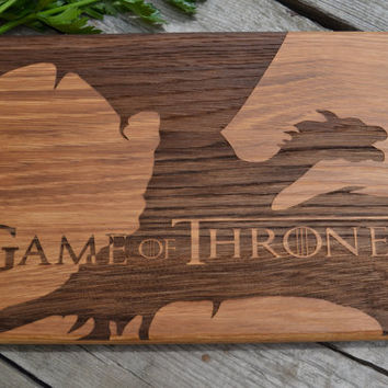 Cutting Board Game of Thrones Dinner Is Coming Kitchen Decor Git for Dad Wooden Cutting Board Original Gift Personalized Gift Gift for Him