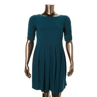 Alfani Womens Ruched Pleated Cocktail Dress