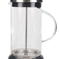 French Press 9 cup Coffee Press Maker (36 Oz) with Thick Professional Grade All Glass Body and Handle, Zinc Lid, and Silicone Heat Resistant Base