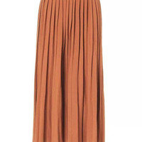 Yellow Pleated Knit Skirt