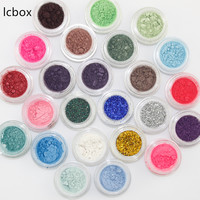 LCBOX 24 Mixed Colors Glitter Cosmetic Eyeshadow Palette Powder Pigment Mineral Spangle Sparkle Eye Shadow Palette Maquiagem Kit