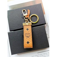 MCM classic logo men and women keychain key ring pendant