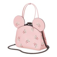 Minnie Mouse Floral Kisslock Leather Bag by COACH - Pink
