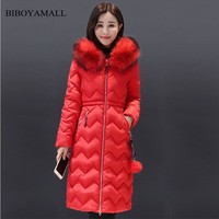 BIBOYAMALL Winter Jacket Women Winter Thick Cotton Outerwear Female Fashion Casual Fur Women Coat Jacket Warm Woman Parka