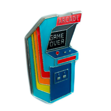 Classic 80's Arcade Game Lapel Pin Alternative Clothing Game Over Nostalgia