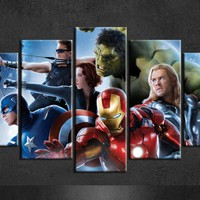 Marvel Avengers Painting Wall Canvas