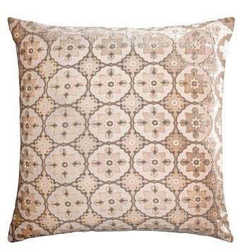 Latte Small Moroccan Velvet Pillow by Kevin O'Brien Studio