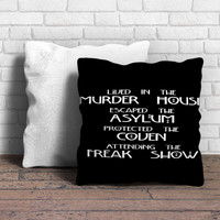 American Horror Story Cover Pillow   Aneend