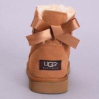 Tagre™ UGG Fashion Women Bow Fur Wool Snow Boots Shoes