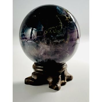 """Inspiration"" Fluorite Sphere & Stand"