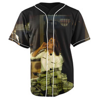 Blow Button Up Baseball Jersey