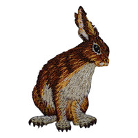 Jack Rabbit Applique Patch (Iron on)