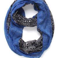 With Love From CA 2 Tone Tribal Infinity Scarf at PacSun.com