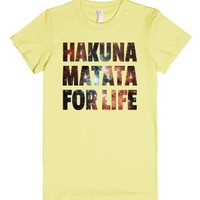 Hakuna Matata Galaxy Stars-Female Lemon T-Shirt