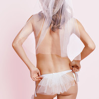 Bridal Side-tie Veil-back Thong Panty - Sexy Little Things - Victoria's Secret