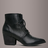 Y.R.U. Witchy Stars and Moon AURA LO Satin Laced Boot