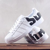 HCXX A249 Adidas Superstar 2018SS Leather Skate Shoes White Black