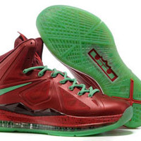Lebron James 10 X Red/Green/Christmas Colorways Mens Shoes on sale