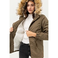 Aspen Faux Fur Parka Jacket
