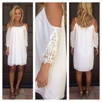 Fresh White Off Shoulder Bonita Dress