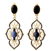 Vintage Drop Earrings with Rhinestone