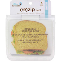 Blue Avocado (Re) Zip Seal Lunch Bag - Translucent