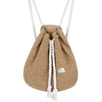 YUFANG Women Straw Backpack Bucket Sack Package Summer Beach Bag Travel Holiday Drawstring Daypack For Girls Female Bolsa