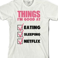 White T-Shirt | Funny Lazy Netflix Shirts
