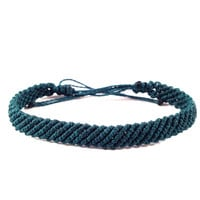 Macrame Braided Bracelet Dark Spring Green